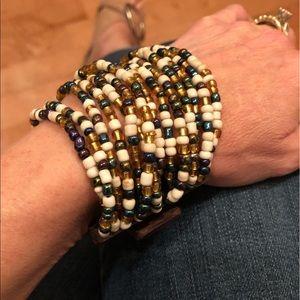 Jewelry - Bead and Wood Stretch Bracelet